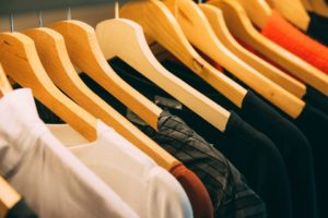Clothing, Clothes, Indoor, Wood, Shirts, Coathanger